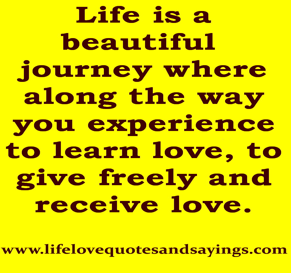 Quotes About Love Journey : Journey Of Love Quotes. QuotesGram