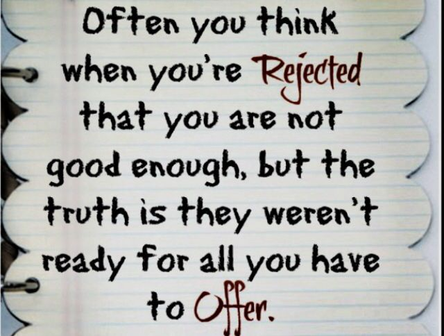 Inspirational Quotes On Rejection. QuotesGram