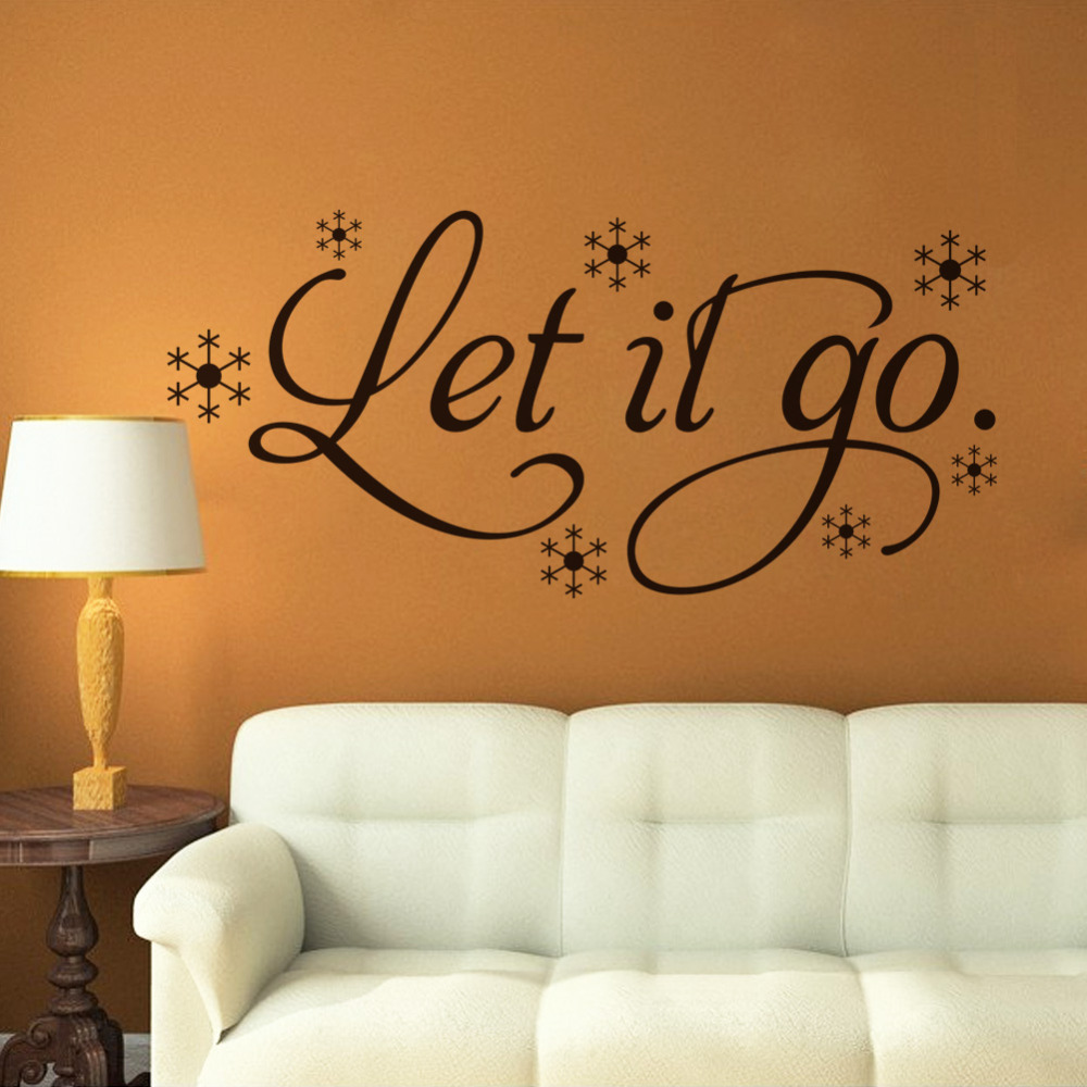 Let it go wall quotes quotesgram for Black and white bathroom wall decor