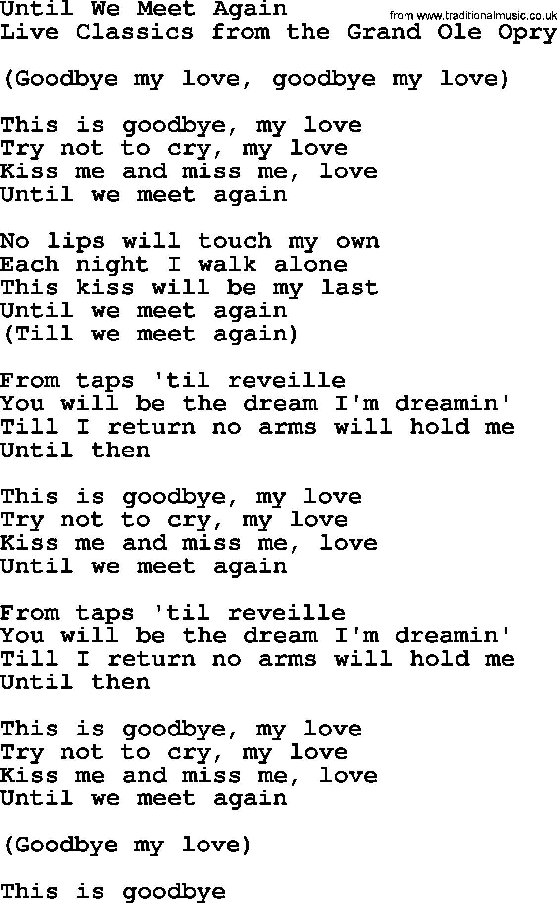 till the day we meet again chords
