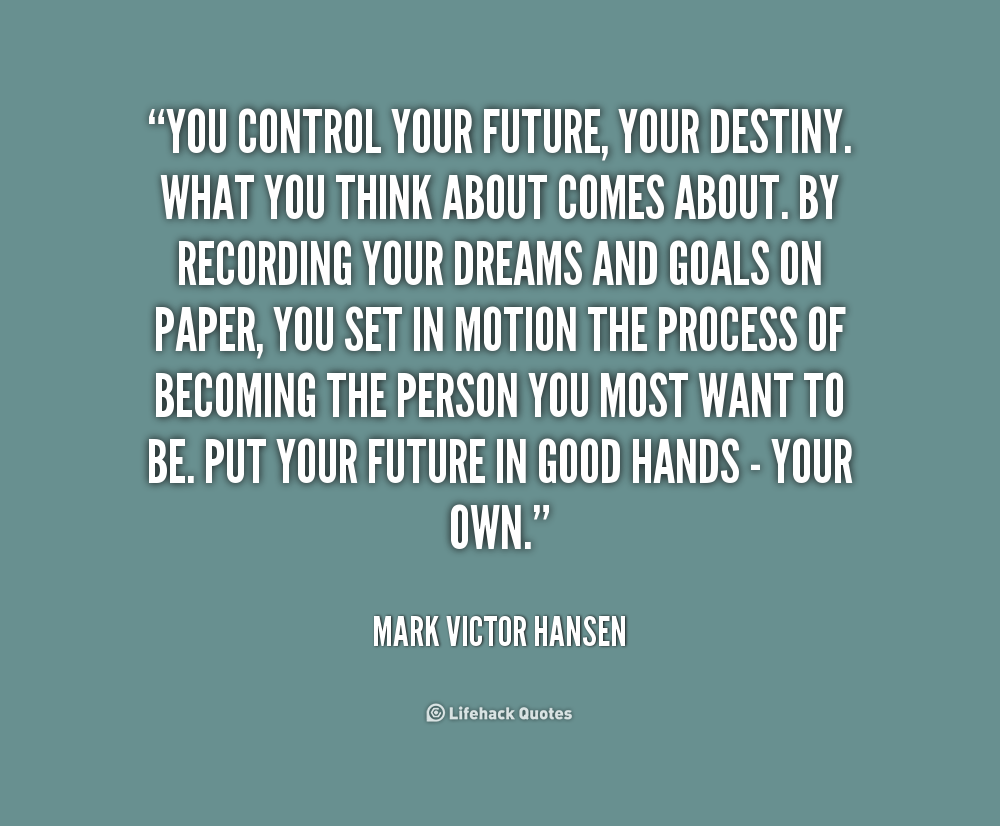 how to choose a future goal