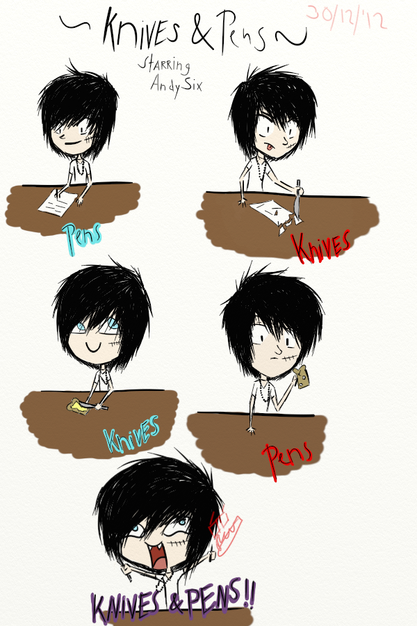 how to play knives and pens