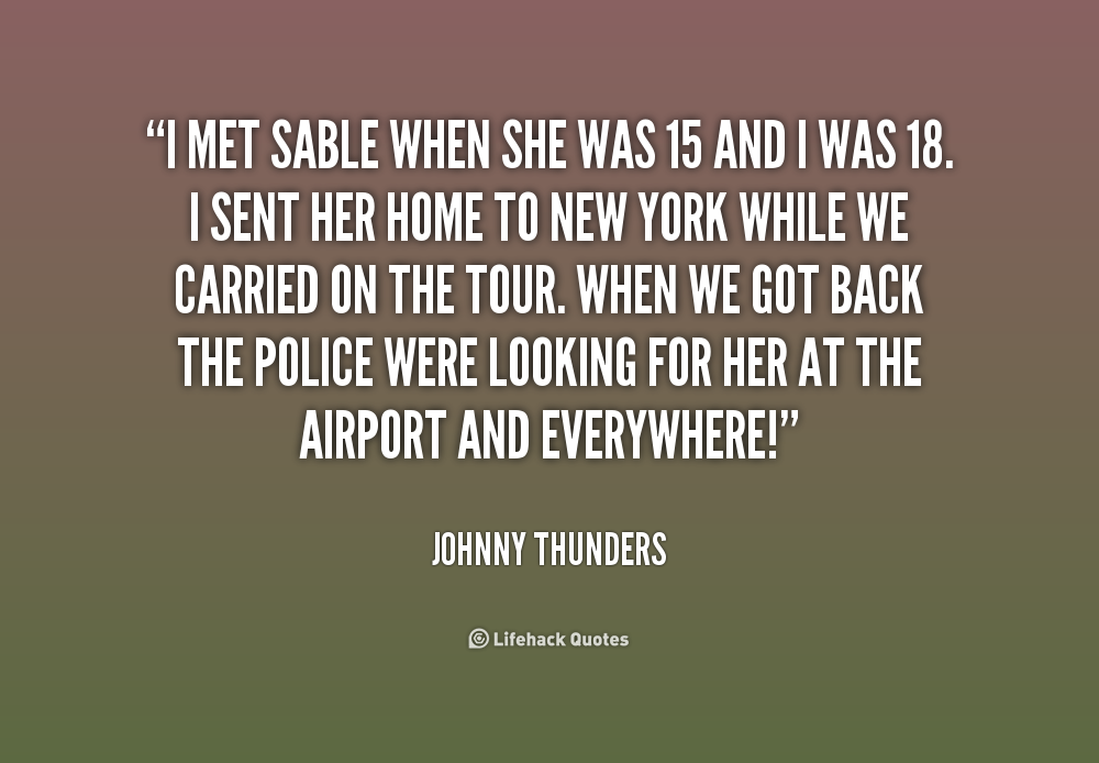 Johnny Thunders Quotes. QuotesGram