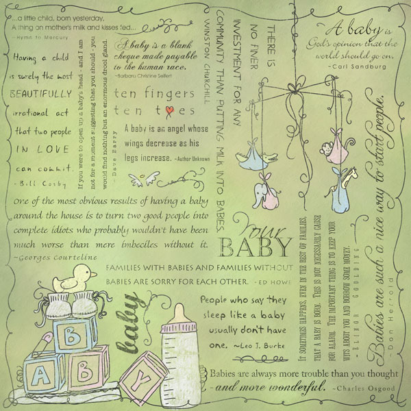 baby quotes for scrapbooking - photo #15