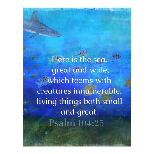bible quotes about the ocean  quotesgram