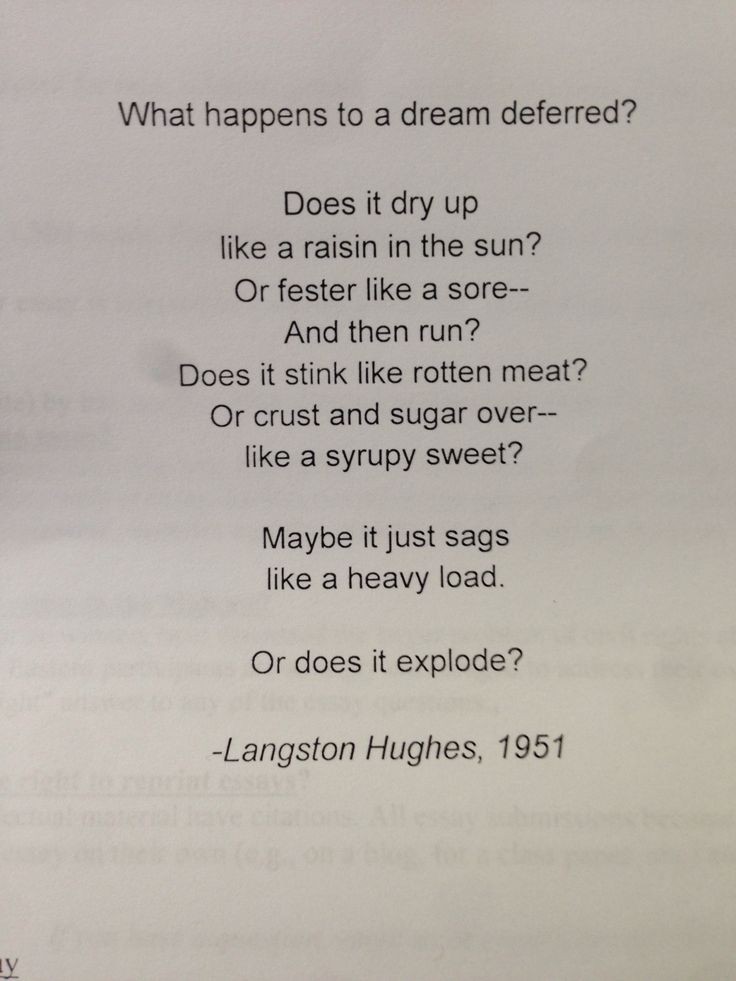 essay about langston hughes poems Langston hughes is a poet whose works are marked by a number of jazz poetry, among them being 'the weary blues,' 'ask your mama' and 'jazzonia' the poems are marked with the repetitive phrases of jazz music, which is characteristic of the african -american culture.