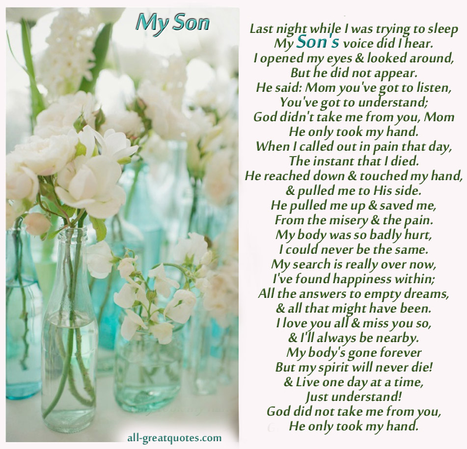 In Loving Memory Quotes For Son Quotesgram