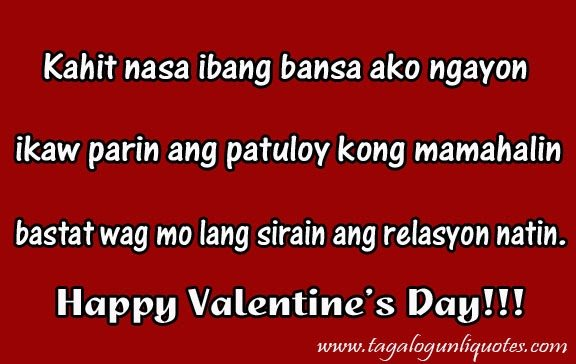 Tagalog Sad Love Quotes Long Distance