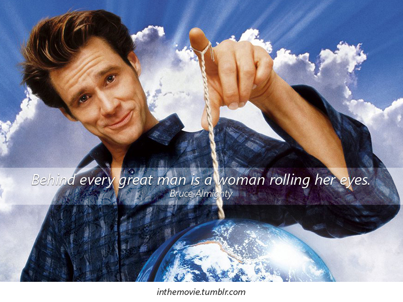 bruce almighty film review `bruce almighty' presents a view of what would happen if a man's will were done bruce nolan (jim carrey) is a field reporter for the local buffalo, ny news station.