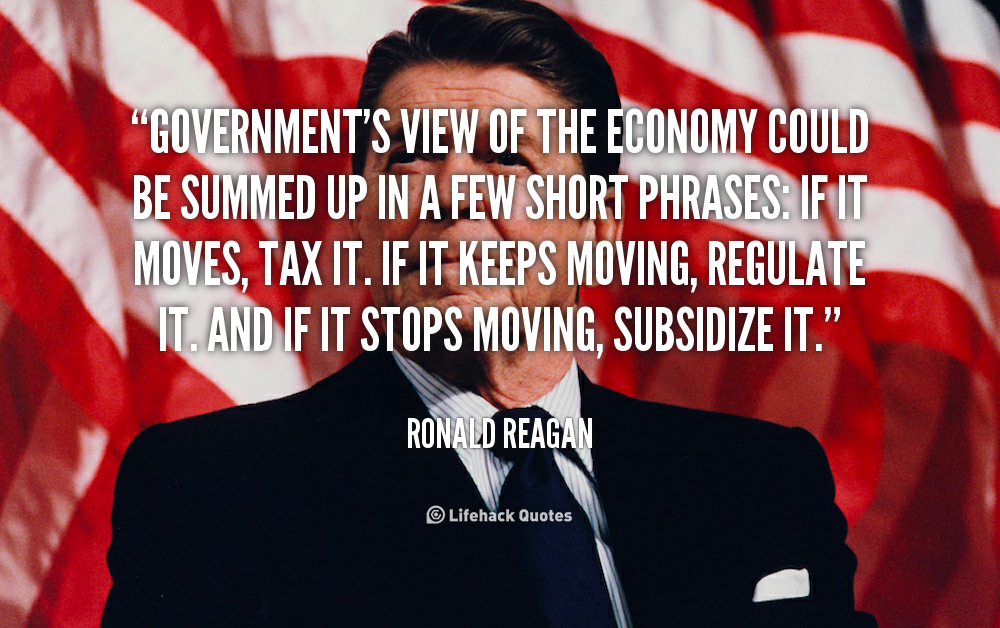 Quotes About The Economy: Ronald Reagan Economy Quotes. QuotesGram