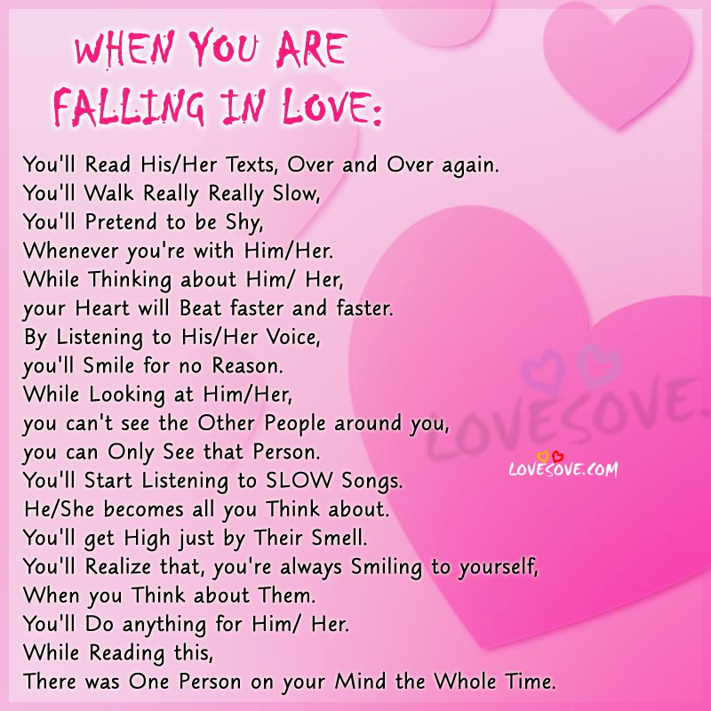 Beginning To Fall In Love Quotes: Signs You Are Falling In Love Quotes. QuotesGram