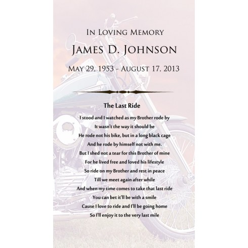 motor cycle poems