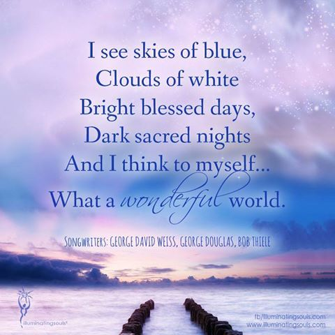What A Wonderful World Quotes Quotesgram