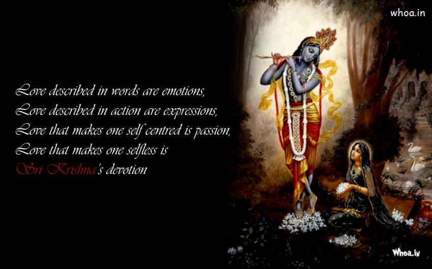 548215224 Radha Sitting Besides Krishna With Quote Wallpaper HD
