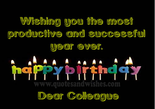 Birthday Wishes Male Colleague ~ Belated birthday quotes for colleagues quotesgram