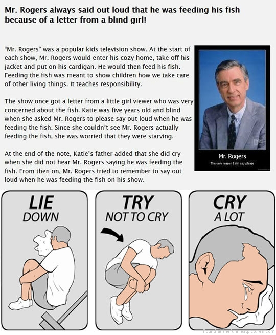 Mr rogers funny quotes quotesgram for Blind robin fish
