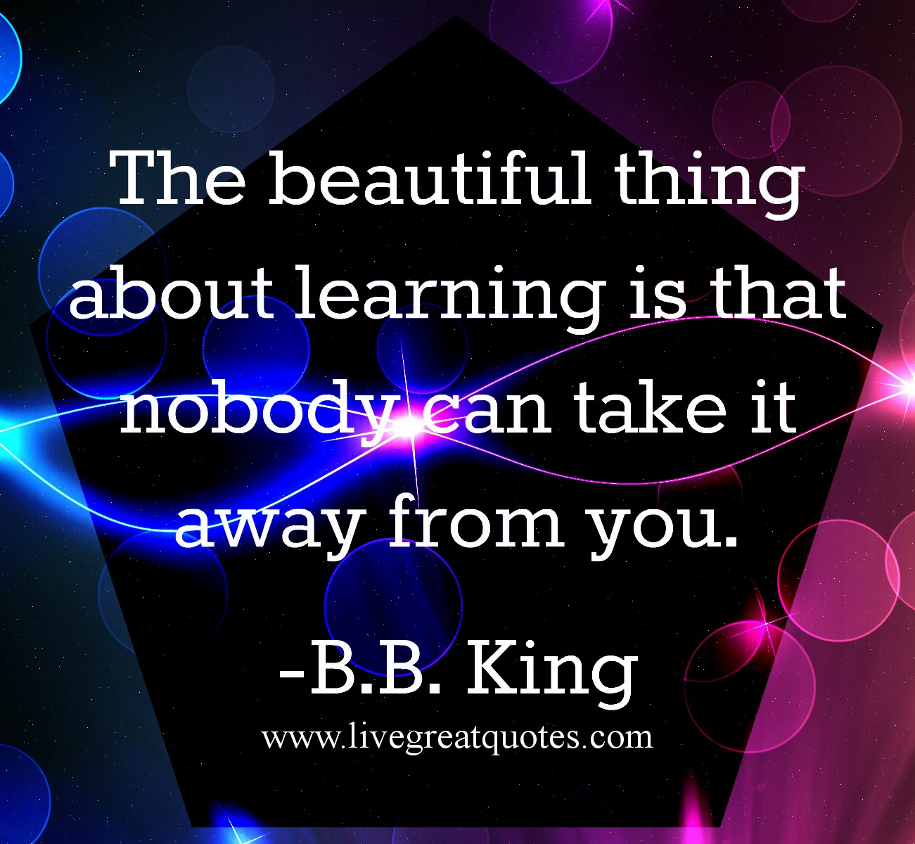 A good thing about learning