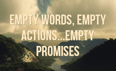Donate A Car >> Quotes About Empty Promises. QuotesGram