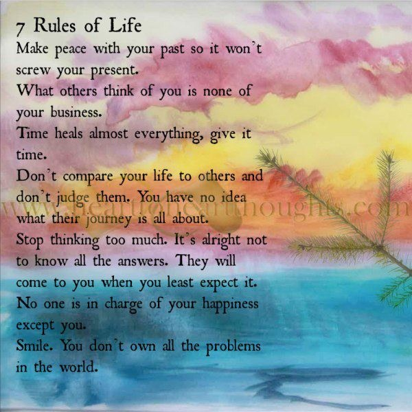 7 Rules Of Life Quote: Quotes About Rules In Life. QuotesGram