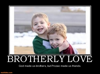 Funny Quotes About Brotherly Love : 1154321489-brotherly-love-brother-love-god-prozac-smile-demotivational ...