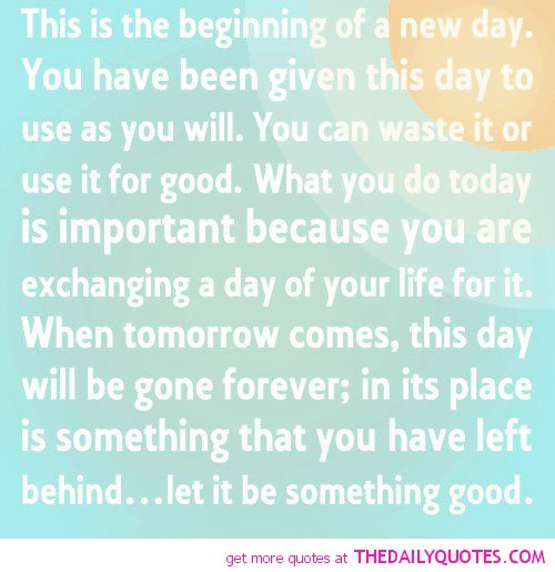 New Relationship Love Quotes: New Day New Beginning Quotes. QuotesGram