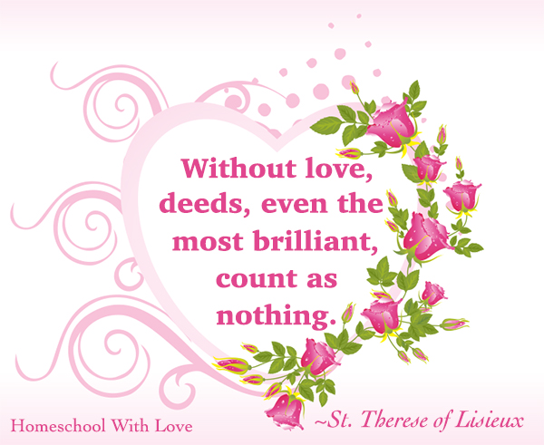 St Therese Quotes On Love Quotesgram
