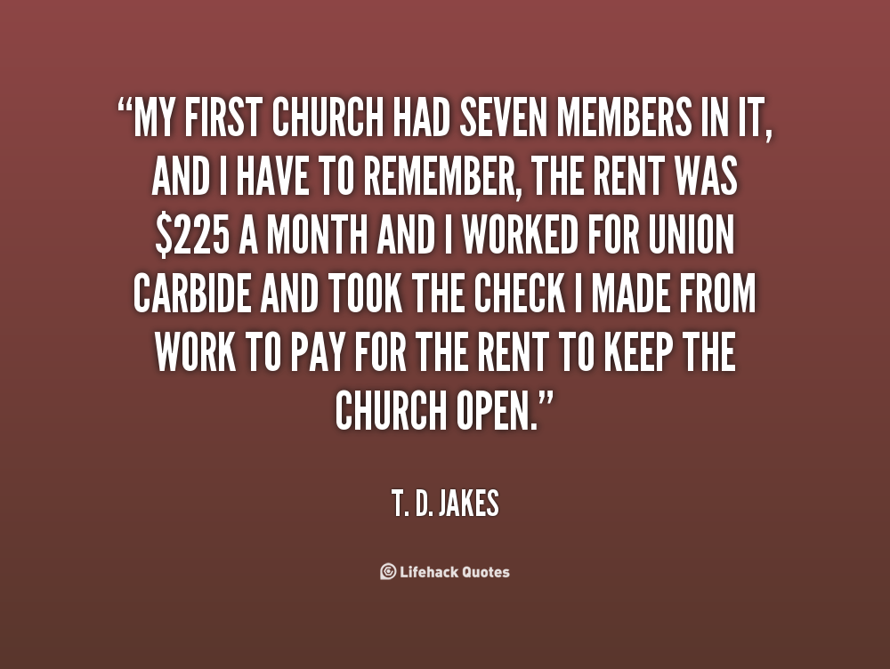 Td Jakes Quotes On Family: Quotes About Church. QuotesGram