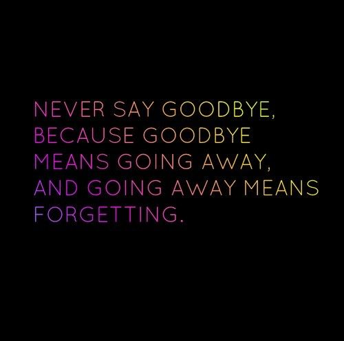 Never Goodbye Quotes. QuotesGram