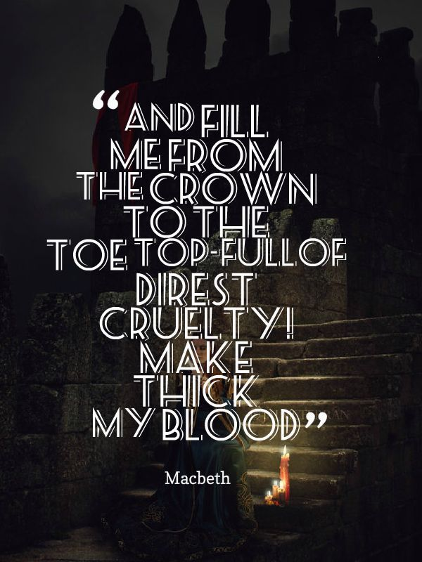macbeth blood motif Mip: motif of blood (2258-81) lady macbeth why did you bring these daggers from the place they must lie there go, carry them and smear the sleepy grooms with blood.