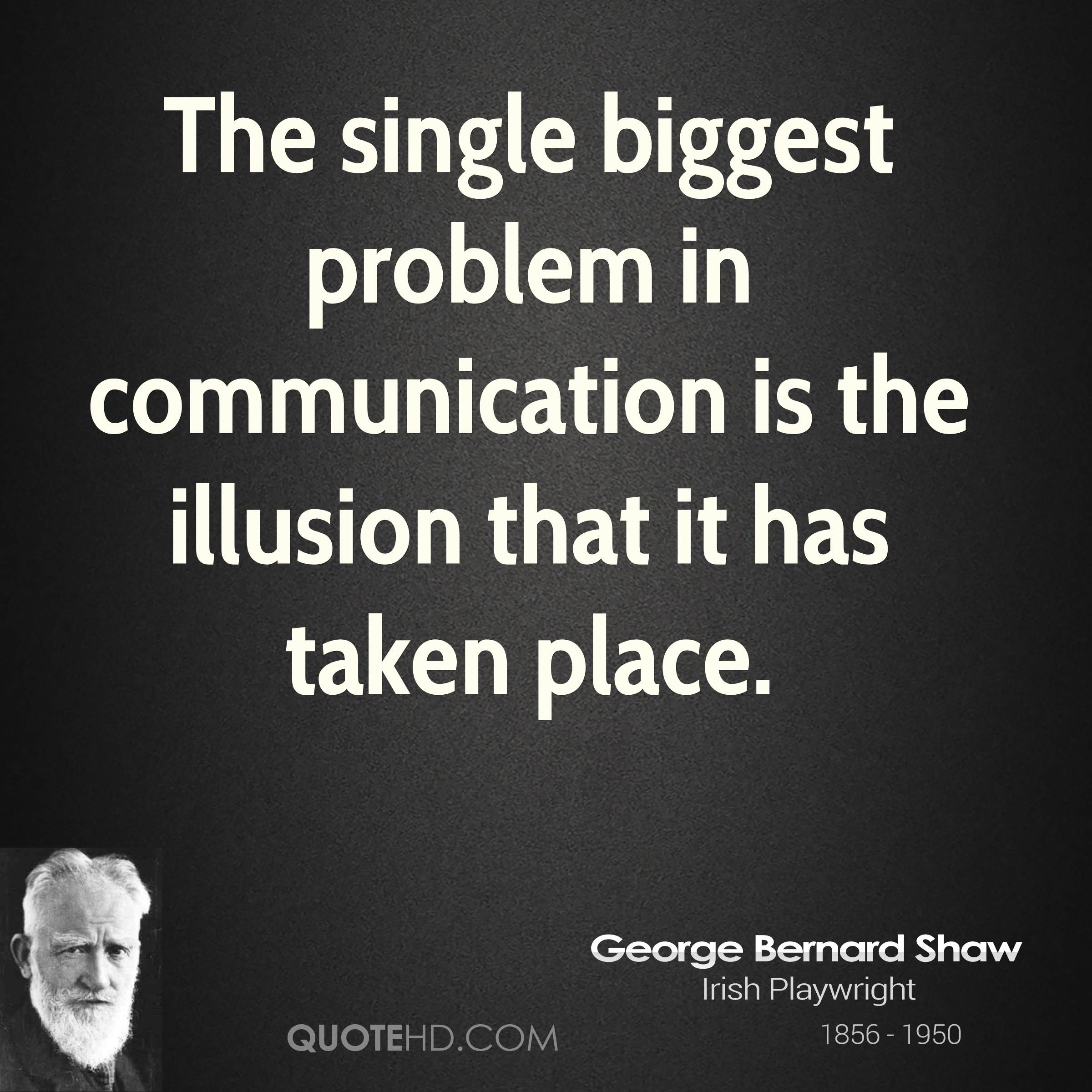 Quotes About Love Relationships: George Bernard Shaw Quotes Communication. QuotesGram