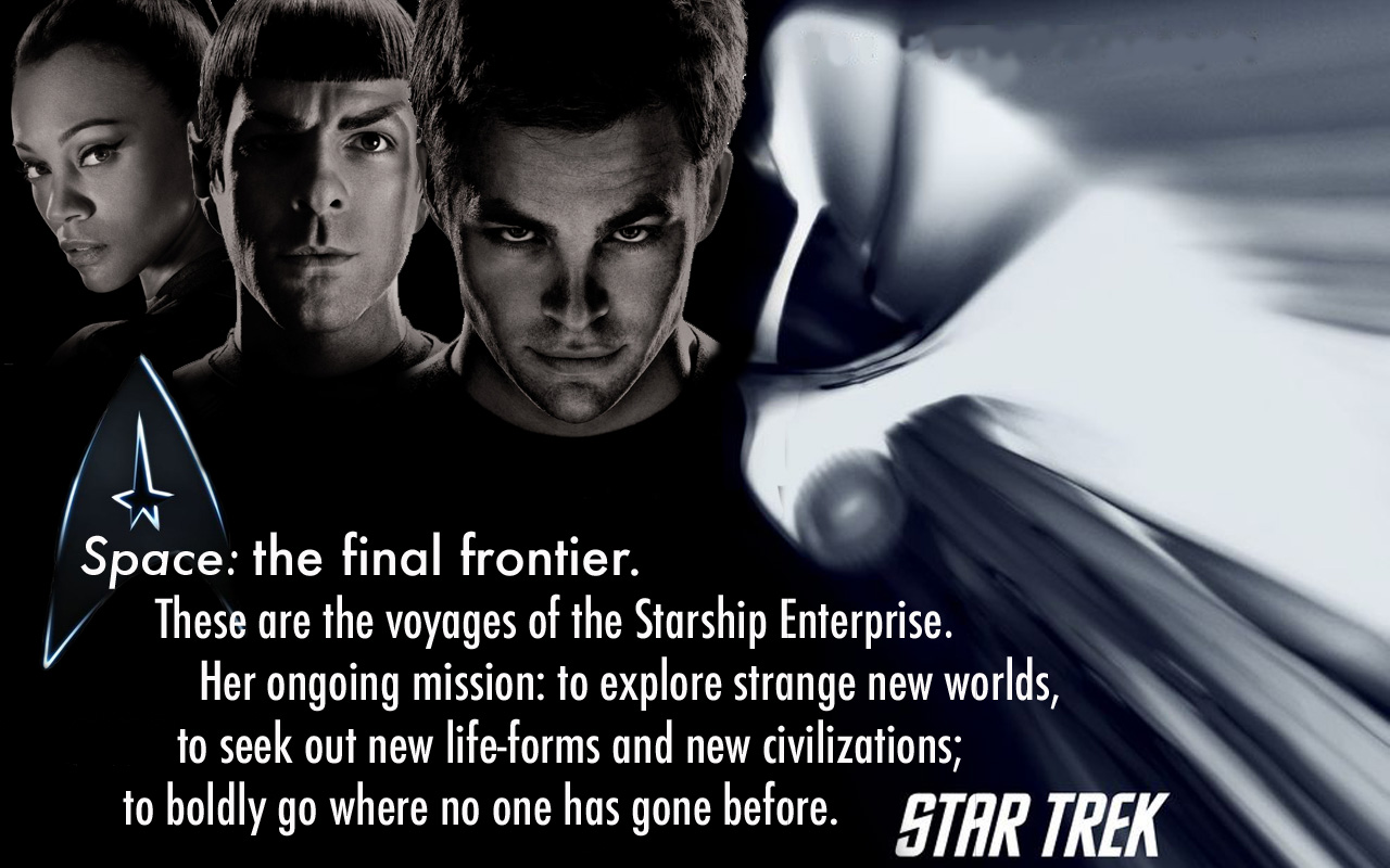 space is the final frontier Fifty years ago captain kirk and the crew of the starship enterprise began their journey into space -- the final frontier now, as the newest star trek film hits cinemas, the nasa/esa hubble.