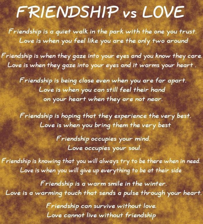 Quotes About Friends Over Relationships : Friendship vs relationship quotes quotesgram