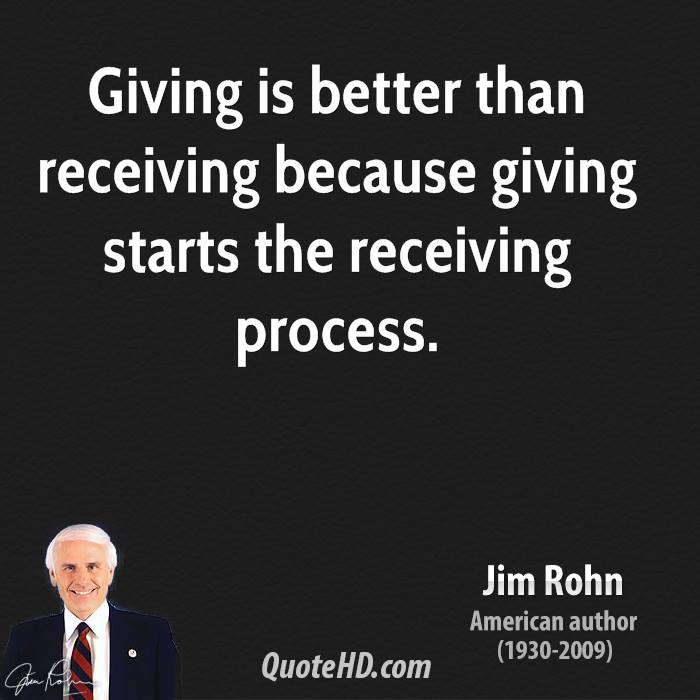 Quotes On Giving Back: Quotes On Generous Giving. QuotesGram