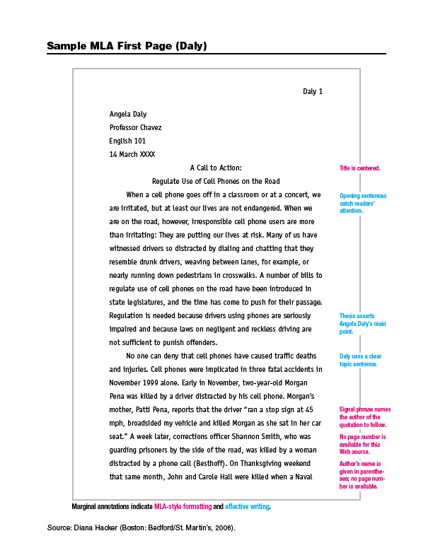 Research Paper Example Mla Citations For Websites - image 5