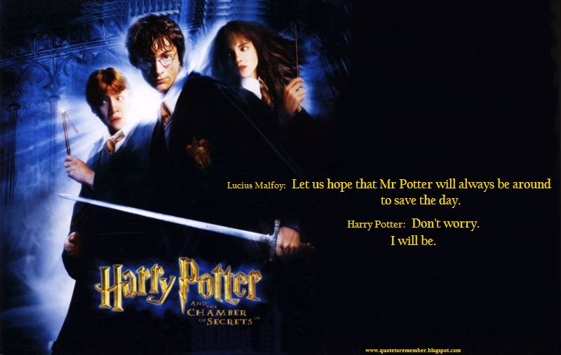 Harry Potter Chamber Of Secrets Quotes Quotesgram