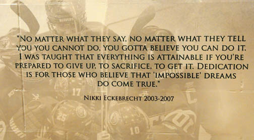 inspirational hockey quotes and sayings quotesgram