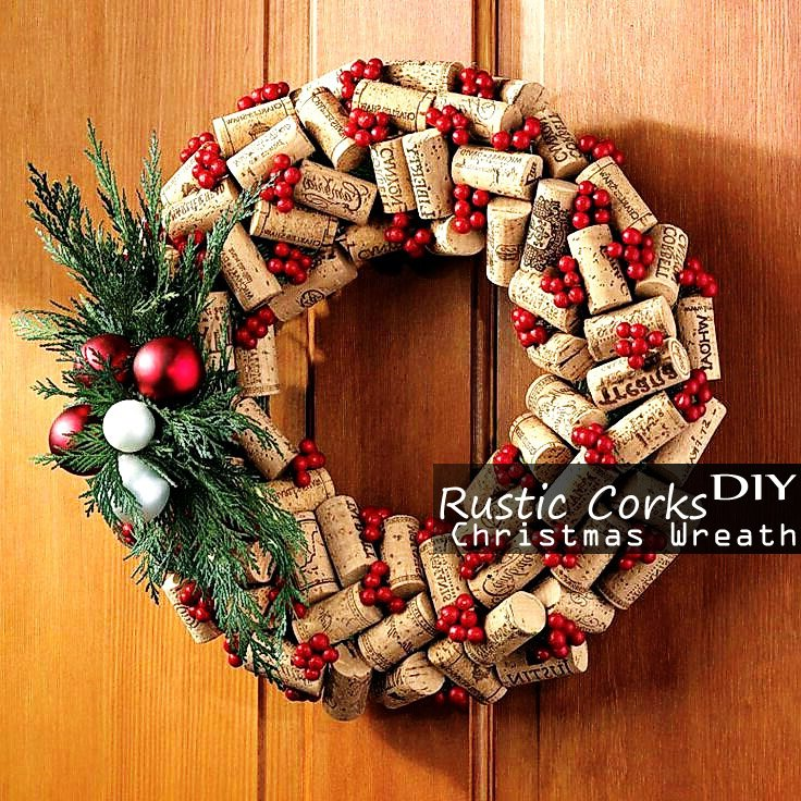 Rustic simple quotes quotesgram - Awesome christmas wreath with homemade style ...