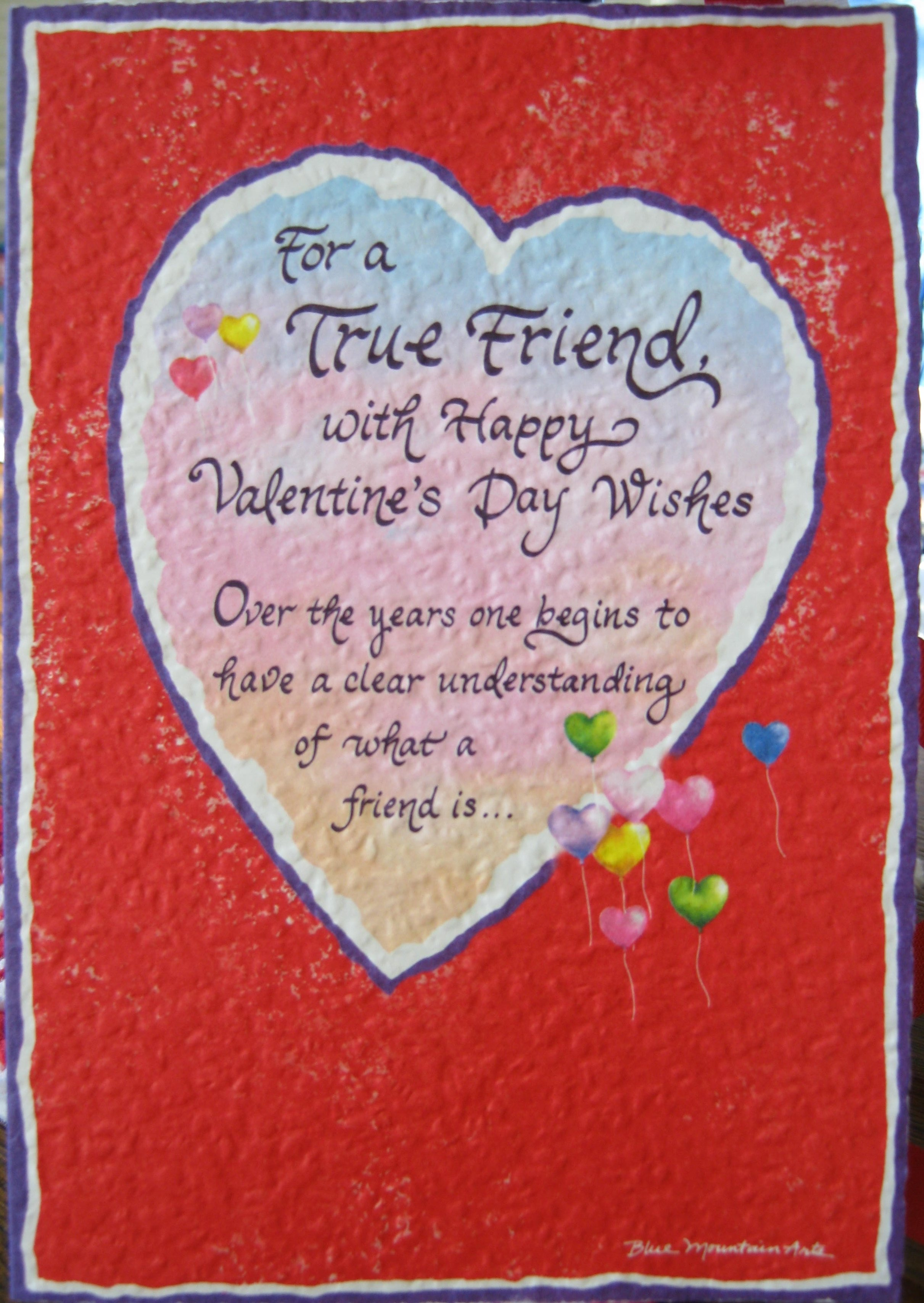 Happy Valentines Day Best Friend Poems Photo Album – Great Valentines Day Card Messages
