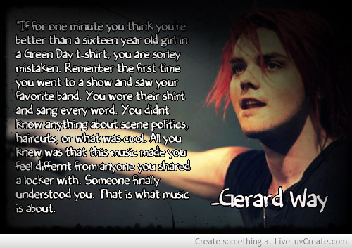 Gerard way quotes about life