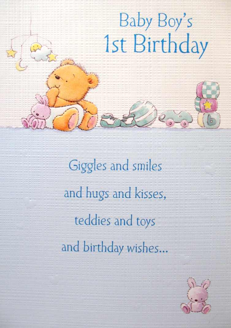 Quotes For Baby Boy First Birthday Quotesgram