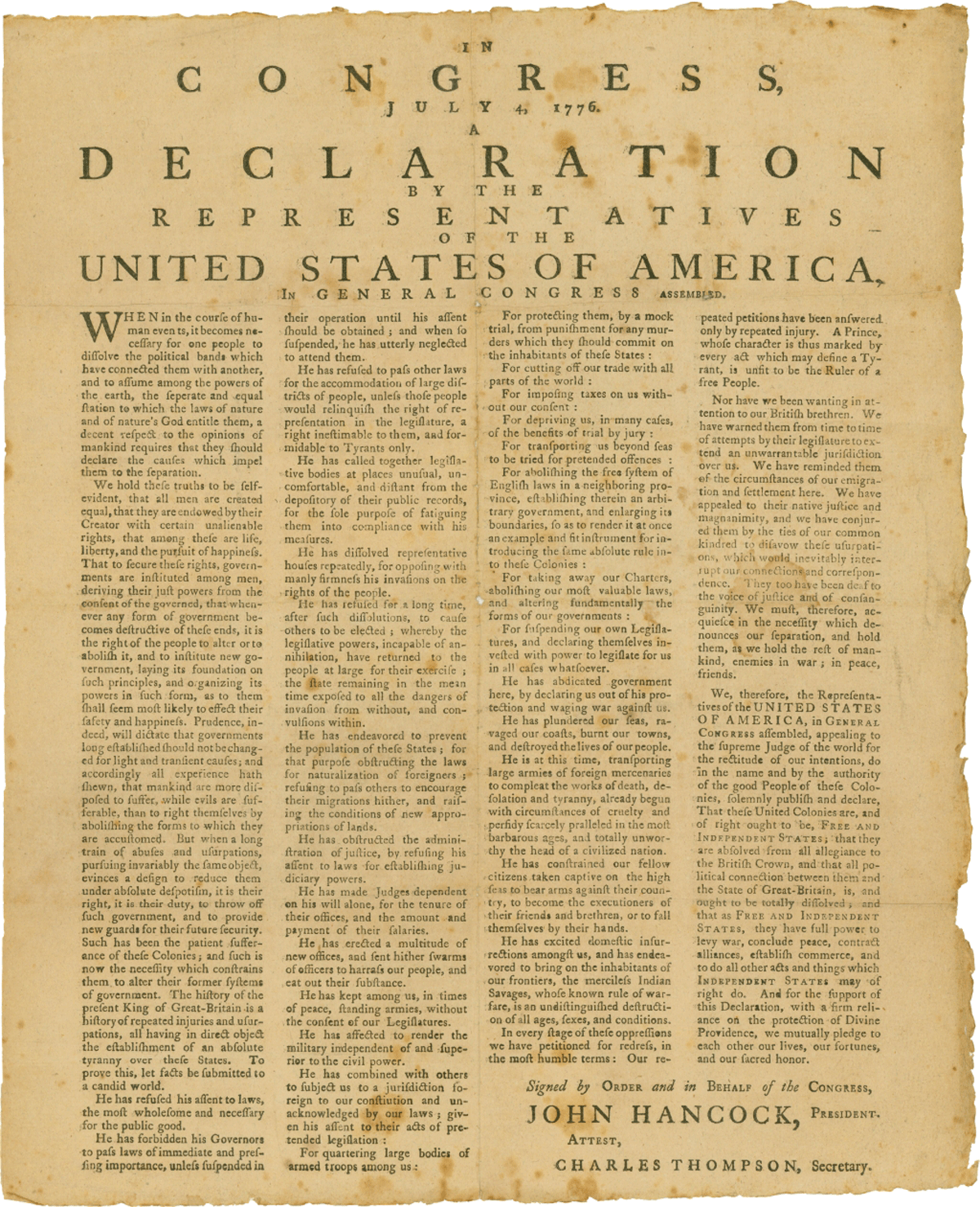 declaration of indipendence From a general summary to chapter summaries to explanations of famous quotes , the sparknotes the declaration of independence (1776) study guide has.