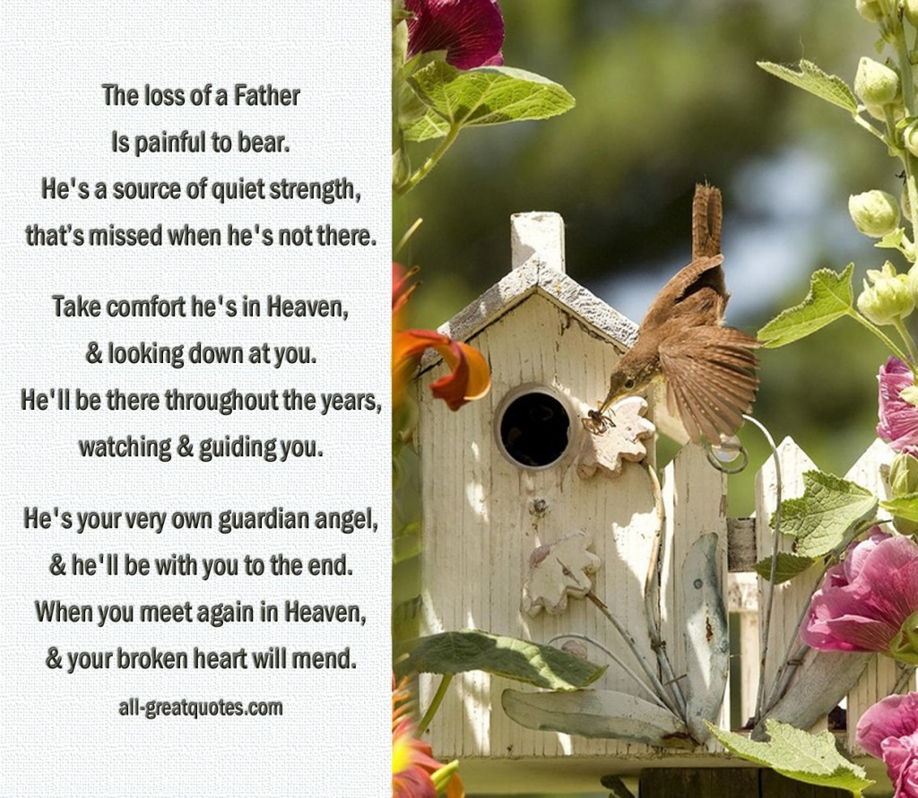 inspirational quotes loss of father quotesgram