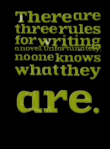 10 Rules of Writing a Novel