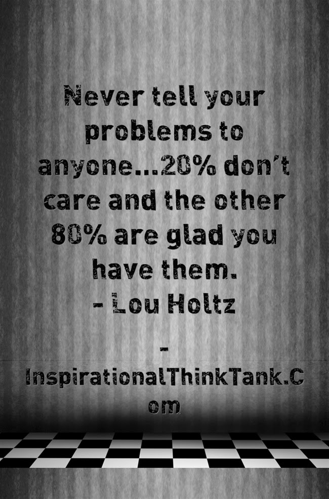 quotes lou holtz on problems  quotesgram