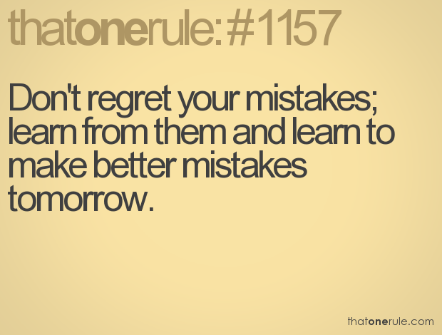 Mistakes happen! learn from them. - YouTube