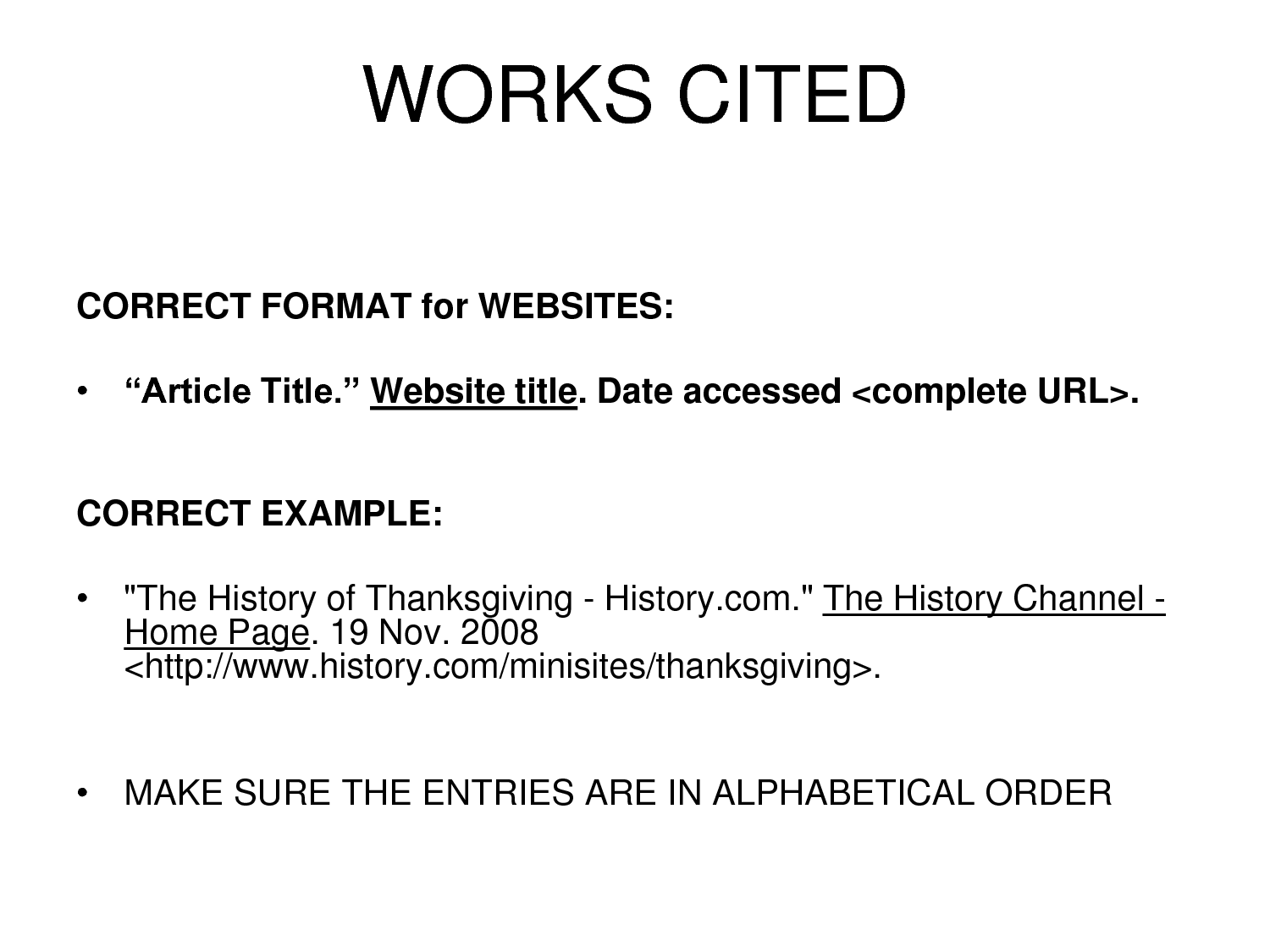mla format web page A website is a collection of information pages on the internet that are written by an individual, organization, company, or institution websites can range in a variety of topics including news, sports, travel, and many other interests and hobbies to make a citation for a website, you will need the following.