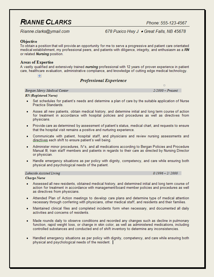 resume template for nurses professional resume examples nursing quotes quotesgram 24397