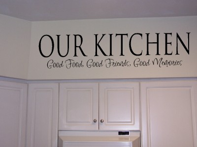 Kitchen wall quotes and sayings quotesgram for Kitchen quotation