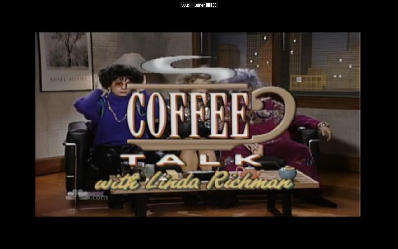 Mike Meyers getting all verklempt on SNL's Coffee Talk ...
