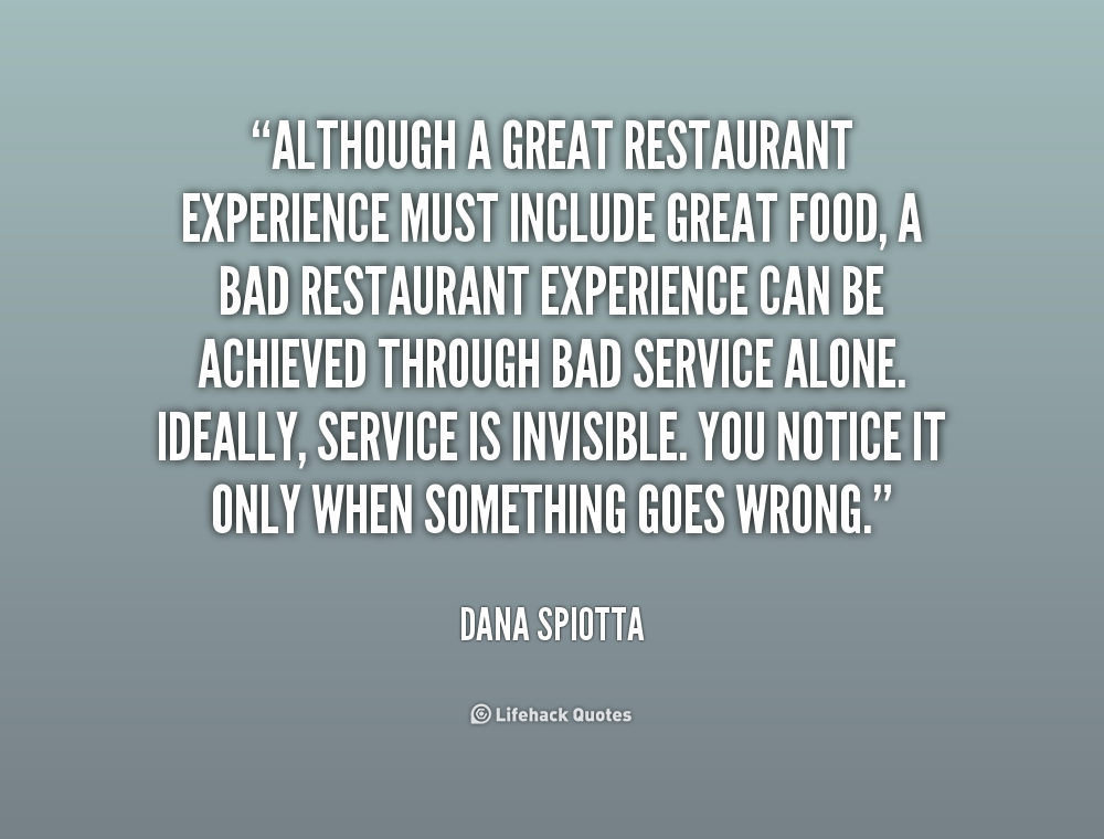 Inspirational Food Service Quotes